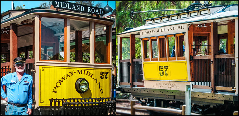 Los Angeles Yellow Line Trolley Car